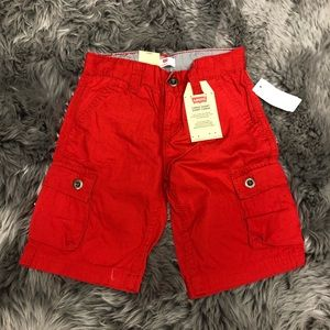 Levi's Boys Cargo Shorts: Red (PM845)